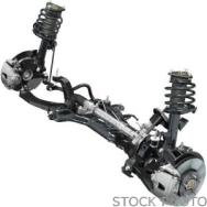 2012 Volkswagen CC Rear Suspension Assembly, Driver Side